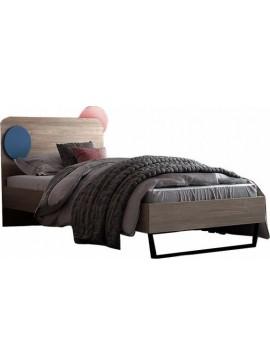"""Παιδικό κρεβάτι """"ΚΟΡΩΝΑ""""no 92c ημίδιπλο σε χρώμα δρυς-σιελ 110x190"""
