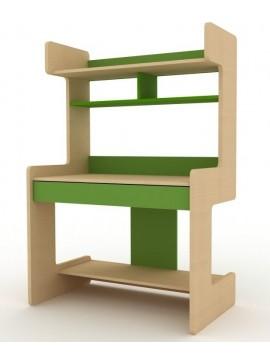 IRVEN Σύνθεση βιβλιοθήκης μοριοσανιδας γραφείου Ir/149  Χρώματος μπέζ-πράσινο  109χ160χ60
