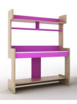 IRVEN Σύνθεση βιβλιοθήκης μοριοσανιδας γραφείου Ir/149  Χρώματος μπέζ-ροζ  109χ160χ60