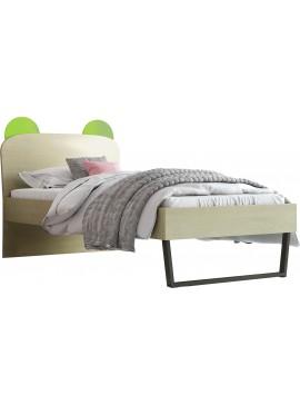 """Παιδικό κρεβάτι """"ΚΟΡΩΝΑ"""" NO91 Cμονό σε χρώμα δρυς-λαχανί 90x190"""