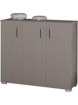 Παπουτσοθήκη ντουλάπι με ράφια σε χρώμα σταχτί 100x36x92εκ. 24P-STAXTY