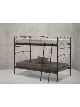 Μεταλλικό κρεβάτι κουκέτα Ανδρος (Για στρώματα 90×190) ΜΕ 7 ΕΠΙΛΟΓΕΣ ΧΡΩΜΑΤΩΝ kafe-xroma-andros