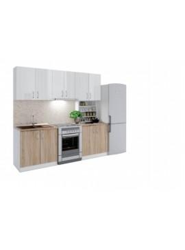 Σύνθεση Κουζίνας μήκος 3.40μ ύψος 2,17μ βάθος 0,60μ, Luxury 340, Genomax 12814-3238265645