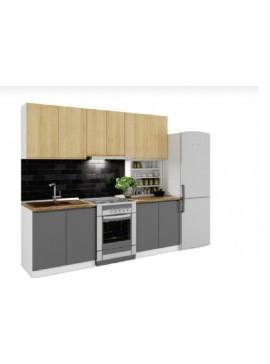 Σύνθεση Κουζίνας μήκος 3.40μ ύψος 2,17μ βάθος 0,60μ, Ultra 340, Genomax  12814-323854232344
