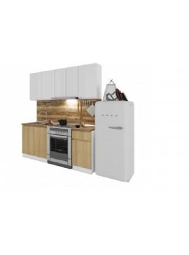 Σύνθεση Κουζίνας μήκος 2.60μ ύψος 2,17μ βάθος 0,60μ, Ultra 260, Genomax  12814-3238265654565