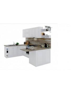 Σύνθεση Κουζίνας 6,35 μ. ύψος 2,17 μ βάθος 0,60 μ, MDF Ultra 180/260/184, Genomax 12814-3245544567