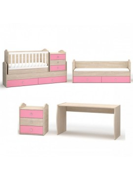 "NSBIOMEL Βρεφικό κρεβάτι ""CANDY"" 70x175cm  25-236 στρώμα 120×65 και το κάτω 170×65"