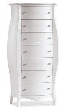 Ιταλικό έπιπλο   Συρταριέρα MOD. Β Art. 371  EPL05094   74x31x142 εκ.Χρώμα Λευκό