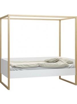 Καναπές - Κρεβάτι 4 You με ουρανό-Λευκό  Μήκος 97.50 Βάθος208.00  Ύψος 207.50  16264679