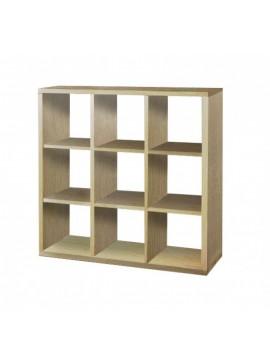 SARRIS  Βιβλιοθήκη με κύβους 3x3 σε δρυς χρώμα 110x35x110 SARRIS 40-DRYS