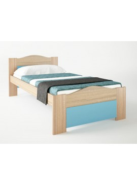 """SARRIS  Παιδικό κρεβάτι """"ΚΥΜΑ"""" μονό σε χρώμα δρυς-σιελ 90x190 SARRIS 47-SIEL"""