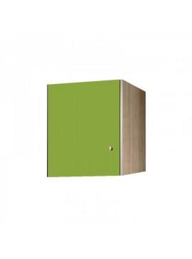 Πατάρι ντουλάπας μονόφυλλο σε χρώμα δρυς-λαχανί 48x50x60 SB 32-LAXANI