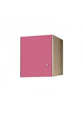Πατάρι ντουλάπας μονόφυλλο σε χρώμα δρυς-ροζ 48x50x60 SB 32-ROZ