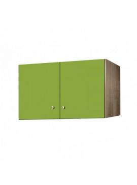 Πατάρι ντουλάπας δίφυλλο σε χρώμα δρυς-λαχανί 85x50x60 SB 33-LAXANI