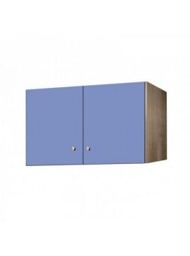 Πατάρι ντουλάπας δίφυλλο σε χρώμα δρυς-σιελ 85x50x60 SB 33-SIEL