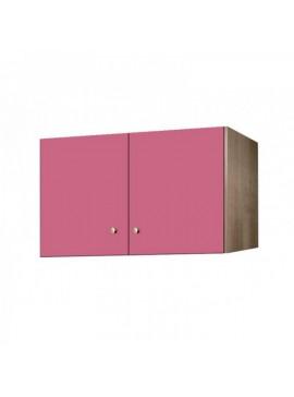 Πατάρι ντουλάπας δίφυλλο σε χρώμα δρυς-ροζ 105x50x60 SB 34-ROZ