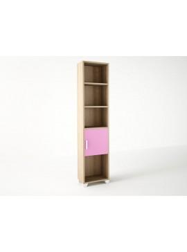 Βιβλιοθήκη παιδική σε χρώμα δρυς-ροζ 40x30x180 SB 13-ROZ