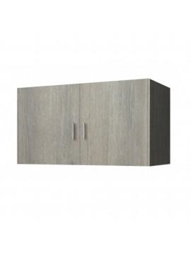 Πατάρι ντουλάπας δίφυλλο σε χρώμα σταχτί 85x50x60 SB 33-STAXTI