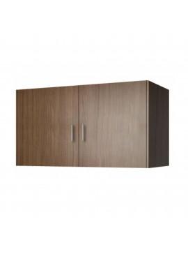 Πατάρι ντουλάπας δίφυλλο σε χρώμα καρυδί 105x50x60 SB 34-KARYDI