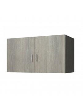 Πατάρι ντουλάπας δίφυλλο σε χρώμα σταχτί 105x50x60 SB 34-STAXTI