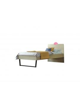 """Παιδικό κρεβάτι """"ΑΝΑΤΟΛΗ"""" μονό σε χρώμα δρυς-ροζ 90x190 SB 94C-ROZ"""