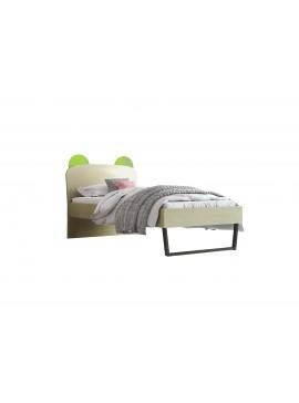 """Παιδικό κρεβάτι """"ΚΟΡΩΝΑ"""" μονό σε χρώμα δρυς-λαχανί 90x190 SB 91C-LAXANI"""