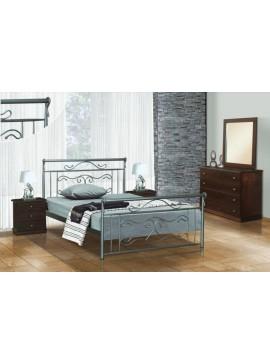 Κρεβάτι μεταλλικό Νο57 (ΣΠ)-150x200 εκ.  EPL04024-150x200 εκ.
