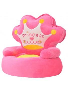 """Πολυθρόνα Παιδική """"Πριγκίπισσα"""" Ροζ Λούτρινη  80158"""