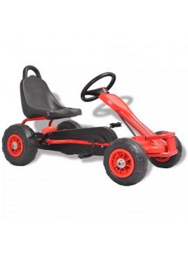 Go Kart με Πετάλια και Λάστιχα Πεπιεσμένου Αέρα Κόκκινο  80197