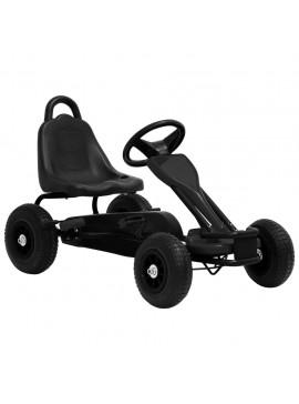Go Kart με Πετάλια και Λάστιχα Πεπιεσμένου Αέρα Μαύρο  80199