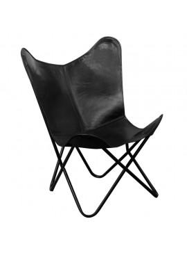 Καρέκλα Πεταλούδα Μαύρη από Γνήσιο Δέρμα  243695