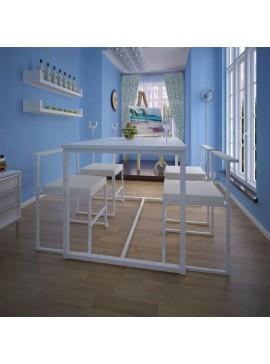 Σετ Τραπεζαρίας με Καρέκλες Πέντε Τεμαχίων Λευκό  244268