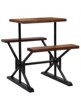 Τραπέζι Μπαρ με Πάγκους 80x50x107 εκ. Μασίφ Ανακυκλωμένο Ξύλο   245379