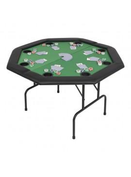 Τραπέζι Πόκερ 8 Ατόμων Πτυσσόμενο Οκταγωνικό Πράσινο  80211