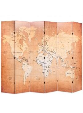 Διαχωριστικό Δωματίου Πτυσσόμενο Χάρτης Κίτρινο 228 x 170 εκ.  245880