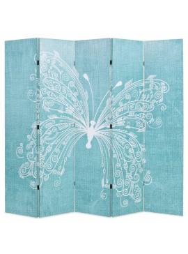 Διαχωριστικό Δωματίου Πτυσσόμενο Πεταλούδα Μπλε 200 x 170 εκ.  245887