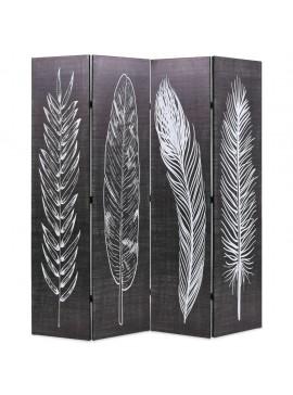 Διαχωριστικό Δωματίου Πτυσσόμενο Φτερά Ασπρόμαυρο 160 x 170 εκ.  245890