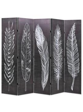 Διαχωριστικό Δωματίου Πτυσσόμενο Φτερά Ασπρόμαυρο 200 x 170 εκ.  245891