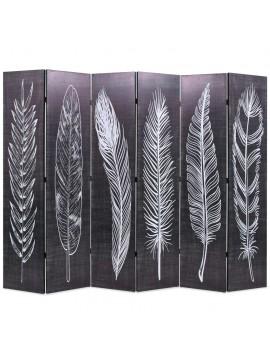 Διαχωριστικό Δωματίου Πτυσσόμενο Φτερά Ασπρόμαυρο 228 x 170 εκ.  245892
