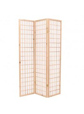 Παραβάν Ιαπωνικού Στιλ με 3 Πάνελ Πτυσσόμενο Φυσικό 120x170 εκ.  245901