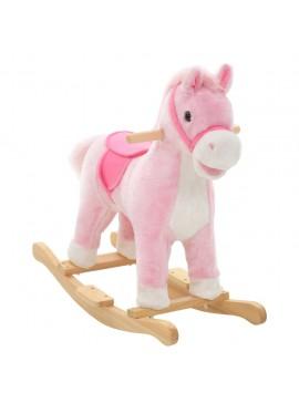 Κουνιστό Παιχνίδι Άλογο Ροζ 65 x 32 x 58 εκ. Λούτρινο  80218