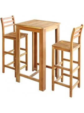 Σετ Τραπέζι και Καρέκλες Μπαρ 3 τεμ. από Μασίφ Ξύλο Ακακίας  246667