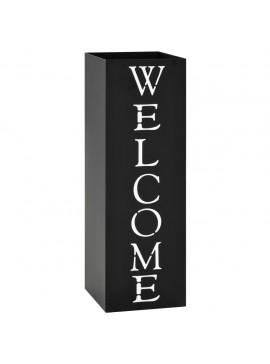 Ομπρελοθήκη με Σχέδιο «Welcome» Μαύρη Ατσάλινη   246796