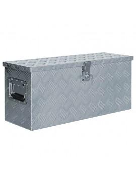 Κουτί Αποθήκευσης Ασημί 76,5 x 26,5 x 33 εκ. Αλουμινίου  142938