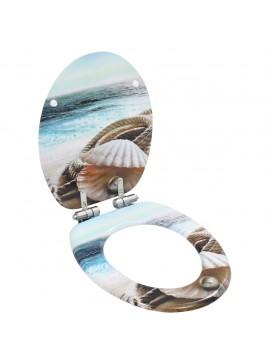 Κάλυμμα Λεκάνης με Καπάκι Soft Close Σχέδιο Κοχύλι από MDF  143924