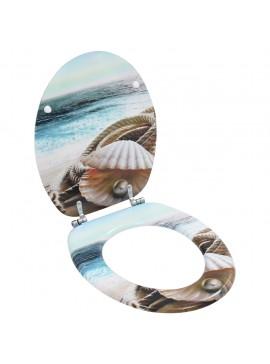 Κάλυμμα Λεκάνης με Απλό Καπάκι Σχέδιο Κοχύλι από MDF  143925