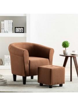 Πολυθρόνα Καφέ Υφασμάτινη  248026