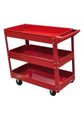Φορητός Εργαλειοφόρος με Τρία Ράφια 100 kg Κόκκινος  140156