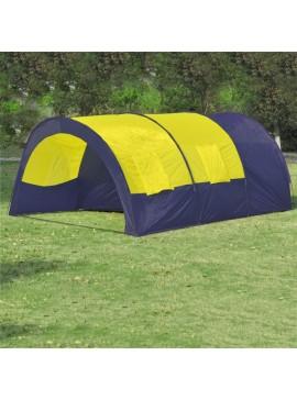 Σκηνή Κάμπινγκ από Πολυεστέρα 6 Ατόμων Μπλε-Κίτρινη  90416
