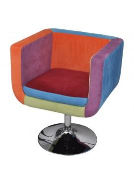 Πολυθρόνα Cube με Σχέδιο Patchwork Υφασμάτινη   240813